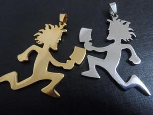 الذهب / الفضة أعلى جودة كبيرة سحر ICP HATCHETMAN الفولاذ المقاوم للصدأ على غرار الرجال المجوهرات الأحقاد