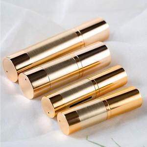 Ouro vazio garrafas térmicas Dispenser Squeeze Jar 15ml 30ml 50ml Maquiagem Cosmetic Plastic Bomba de viagem Container Garrafas 100pcs / lot