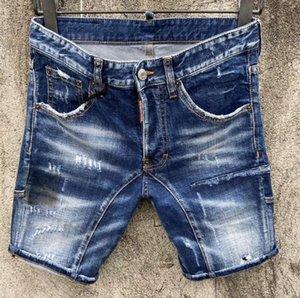 2020 Nouvelle célèbre concepteur de marque à long déchiré jeunes doux jeans hommes hommes de Individualité de motards de luxe de la mode de qualité douce vente chaude shorts Jean
