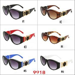 Lentes de Sol popular marca para hombres y mujeres cara bonita gafas de sol retras anchas Piernas UV Protection de gafas 6Colors