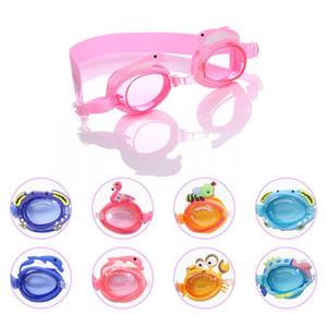 Waterproof glasses child swimming mirror small fish crab cartoon boy girl baby training swimming mirror Other PoolsT2I51135
