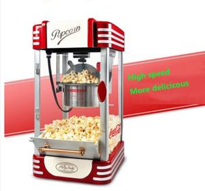 220V Vintage Retro Elektrikli Popcorn Popper Makinesi Ev Partisi Aracı AB Tak DIY Mısır Popper Çocuk Hediye Sıcak Hava