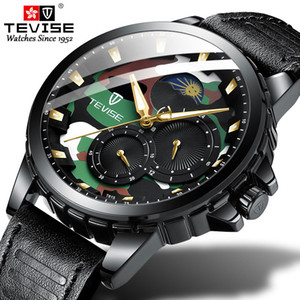 TEVISE Casual Men Automatic Mechanical Watch Fashion Man Waterproof Sport Military Clock Relogio Masculino