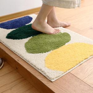 Flocking Bedroom Living Room Carpet Floor mats Simple Household Kitchen Bathroom Door Absorbent mat ( Size : 80*120cm)