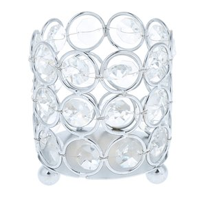 Crystal Tealight Candle Lantern Holders Candlesticks Wedding Xmas Party Dinner Table Centerpieces Home Party Decor