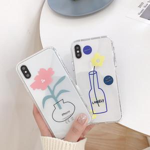 ل Iphone Xr Xs Max Phone Case Fresh Flowers Cute Sweet 678x Plus Air Board Transparent Soft Cell Phone Case