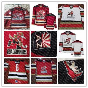 Custom мужская Tucson Roadrunners Хоккей 2 Эндрю Кэмпбелл 35 Хантер Миска 43 Дакота Мермис 72 Райан Макиннис AHL Сшитые трикотажные изделия Красный Белый