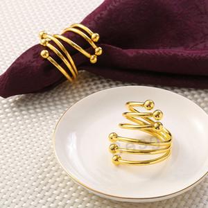 Frühling Doppel-Korn Serviettenring Western Food Serviette Ringe Gold Silver Hotel Heim Tabelle Trinkets Serviettenhalter Buckle Dekoration DBC BH2780