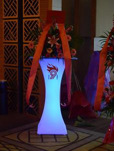 Nueva recargable LED luminoso mesa de centro brillante impermeable mesa de bar llevado iluminó barra de mesa de café supply666 kTV fiesta disco
