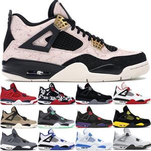 Hommes Silt Red Splatter 4 4s chaussures de basket-ball de race vert grandir frais tatouage champignon gris formateurs hommes rouge feu US7-13