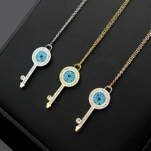 Pop Alta USpecial USpecial 2019 diretta blu diamante bianco diamante chiave collana di chiave donna collana di diamanti di fabbrica libero