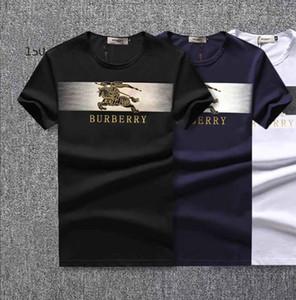2019 Marca de Design de Verão Desgaste Da Rua Europa Moda Masculina de Alta Qualidade Algodão Camiseta Casual Manga Curta Tee T-shirt ### 998