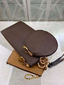 Luxus-Designer Geldbörsen Set 3-in-One Waistlet ändern Pouch Rund Zippy Mappen Reverse-Farben Golden Reißverschluss Blumen Wistband