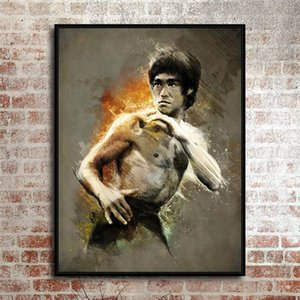 Bruce Lee Poster , LeBro , Canvas Pieces Home Decor HD Printed Modern Art Painting on Canvas (Unframed Framed)