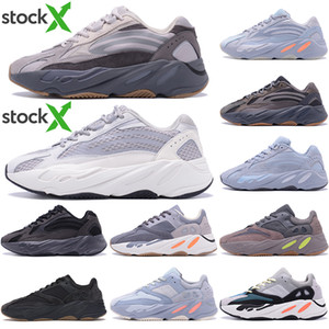Üst Kalite Kanye West Koşu Ayakkabı 700 Dalga Runner Atalet Yansıtıcı Tephra Katı Gri Utility Siyah Erkekler Kadınlar Sport Sneakers ile Kutusu