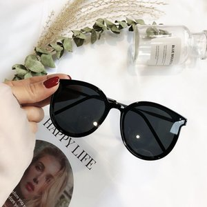 2020 new Korean round box sunglasses polarizer big red face network burst models with models sunglasses glasses Hong Kong flavor