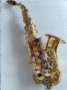 Vente en gros Hot vente Yanagisawa S-991 Saxophone courbé BB Tone Bell courbé Soprano Sax saxofone pour enfants Instrument de musique