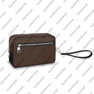 M42838 N41663 N41664 Kasai Clutch Men Designer Подлинная кожаная кожаная кожаный холст Проверить лоскутную сумку кошелек сумка