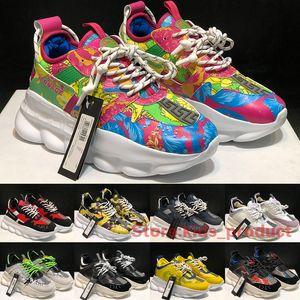 2020 zapatillas de deporte de la reacción en cadena para los hombres de las mujeres calzados informales de lujo italiano diseñadores 1.0 imprimir Fluo Barocco Clásico Snake grueso tamaño de los zapatos 36-45