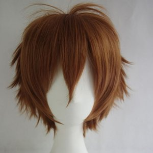 Rot, Grün, Lila 10 Farben Universal-Anime Cosplay Perücken kurze gerade Lattich-Haar-Perücken 30cm