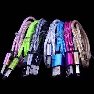 HTC LG 전자 안드로이드 전화에 대한 내구성 알루미늄 합금 직물 꼰 타입 C 마이크로 USB 케이블 1m 2m 3m 삼성 S4 S6 S7에 대한
