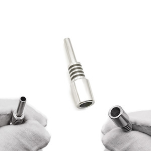 Cheap 10mm Stainless Steel Tips Male Joint for Nectar Collector Honey Straw Glass Water Pipe Dab Rig Glass Bong