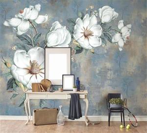 3D 배경 화면 빈티지 유화 꽃 유화 배경 벽 유럽 스타일의 벽 추상적 인 유화