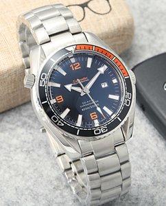 Top fashion business men 42mm steel watchband folding buckle sapphire mirror automatic mechanical fashion men waterproof watch