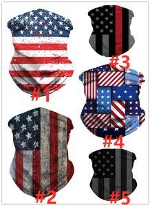 Multipurpose American Flag 3D Mask print Seamless Bandanas Face Headband Scarf Headwrap