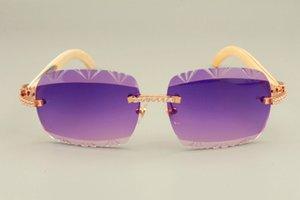 النظارات الشمسية، الماس 8300765 طبيعي 56-18-140 ملليمتر نمط تصميم فريد جديد نظارات شمسية محفورة زاوية بيضاء 2019 عدسة الحجم: أفضل مبيعا BRPW