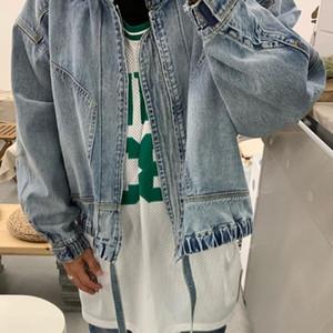 19FW timore di Dio Giacca di jeans Retro High Street lavato confortevole Oversize Giacche Coppia donne e mens Fashion Designer cappotto HFXHJK038