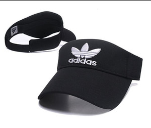 2020 nouveaux designers soleil chapeau de golf visière pare-soleil fête chapeaux casquettes de sport casquette de baseball chapeau crème solaire Tennis plage chapeau élastique cuvett vide