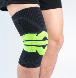 Sport en ligne genouillères ceinture silicone respirant shinguard élastique compression tricotée fitness rotulienne hommes de soccer féminin de basket-ball au football