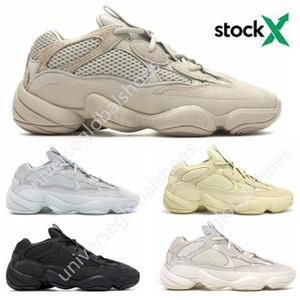 Osso branco de alta qualidade 500 Running Shoes Mens Womens Super Lua amarela Utility Preto Blush Sal Kanye West Designer Sports Sneakers 36-45