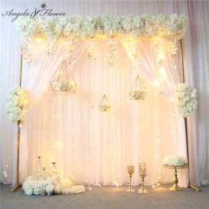 wedding design originale arco decorazione di fiori riga della tabella artificiale ball corner centrotavola fiore sipario floreale