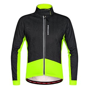 Wosawe Herren Fleece Thermoradjacken Herbst Winter Warm Up Fahrradbekleidung Winddicht Wasserdicht Wind Mantel Mtb Bike Trikots SH190702