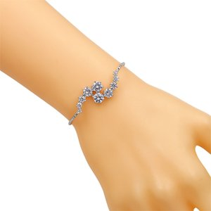 baiduqiandu Round Cut Zircon CZ Crystal Adjustable Bracelets for Women in Silver Color or Gold Color