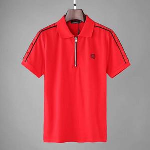 marque de marée hommes Polo été broderie fermeture éclair lâche tendance revers à manches courtes en coton mercerisé casual t-shirt manches demi