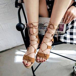 Glittery2019 Popular2019 Flat Code Will Bottom Calzado de mujer Sandalias con puntera Crossing Trae Rome Shoe