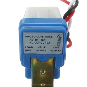 Photocell Street Light Switch Automatic Auto On Off AC DC 12V 50-60HZ 10A Photo Control Photoswitch Sensor Controller