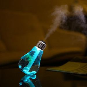 400ML USB Ultraschall-Luftbefeuchter bunten Nachtlicht Ätherisches Öl Aroma Diffuser-Lampen-Birnen-Form mit dem Inneren Landschaft RRA2825-4