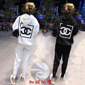 Sports grossas Suits e senhora celebridade Web Same Qiu Dong Men lazer ao ar livre Esportes solto hHoodie + Calças Super confortável