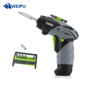 Mini Cordless Electric Screwdriver 6V AA Battery Rotary Screw Driver With LED Work Light 8 Pcs Bits For Household Maintenance