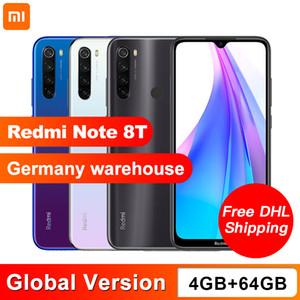 La versión global de Xiaomi redmi Nota 8T 4 GB de RAM 64 GB ROM NFC del teléfono móvil Quad 48MP cámara trasera Snapdragon 665 Octa Core 4000mAh