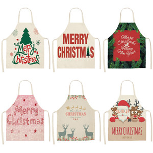 1 Pcs Joyeux Noël Tablier pour Femme Pinafore 53 * 65cm Coton Linge Bavoirs De Noël Décor Pendentif Cuisine Cuisine Accessoires MX0004