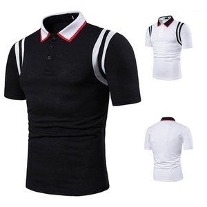 Hommes Polos Designer couleur unie manches courtes revers en vrac Polos Casual Vêtements pour hommes 2020 affaires nouvelles