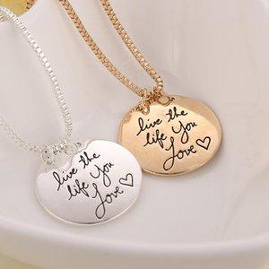Новая мода ювелирные изделия Learn From Yesterday Live For Today Надежда На Завтра Письмо ожерелье подарок для женщин 2 цвета Оптовая KHN69