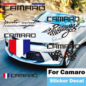 Chevrolet Camaro coche Fender puerta campana de la lámpara de la ceja de combustible del tanque de la manija de puerta decorativo de la etiqueta engomada