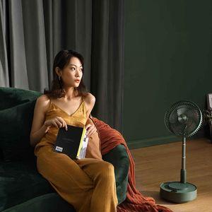 2020 youpin EDON télescopique électrique pliant ventilateur étage bureau Socle ventilateur Télécommande de charge Grande Home Office avec Humidifier