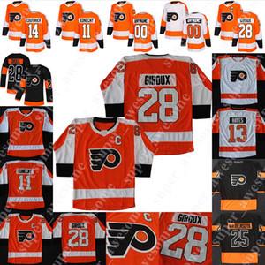 Philadelphia Flyers Jersey James van Riemsdyk Claude Giroux Jakub Voracek Sean Couturier Oskar Lindblom Carter Hart Kevin Hayes 00 Gritty